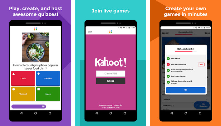 application Kahoot