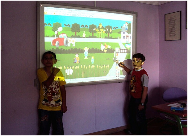 TBI en salle de classe de CM1/CM2