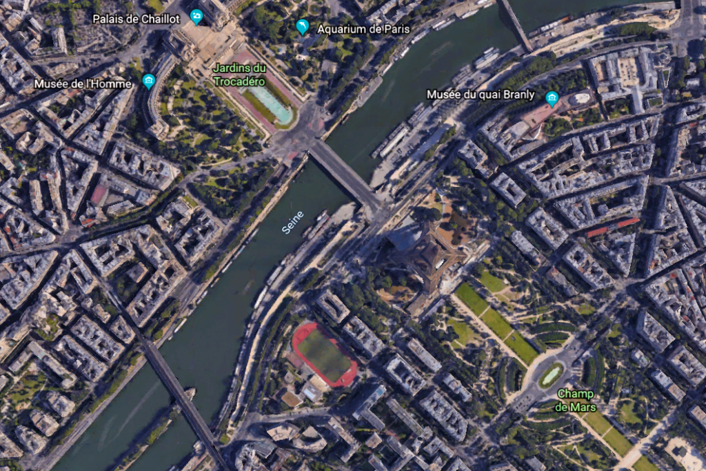 Paris dans Google Earth