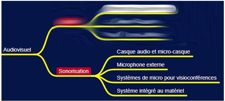 Presentiel distanciel MindMap audiovisuel sonorisation