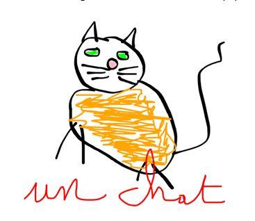 dessin chat à la souris