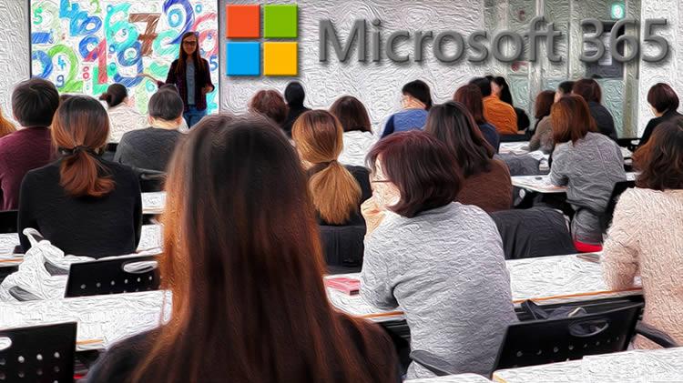 utilisation suite Microsoft 365 pour enseignement presentiel