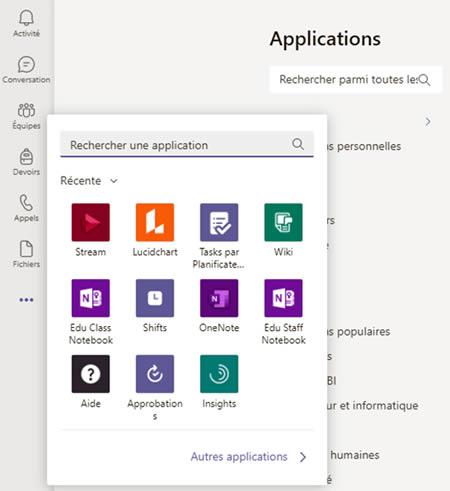 gestion comptes enseignant et eleve en classe hybride Microsoft 365 applications Teams